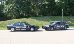 Police cars -two