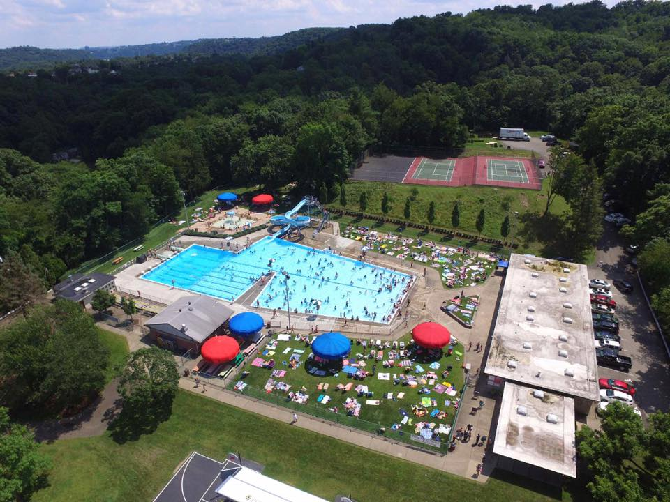 Kiwanis Park - Crawford Pool Aerial photo 7-4-17