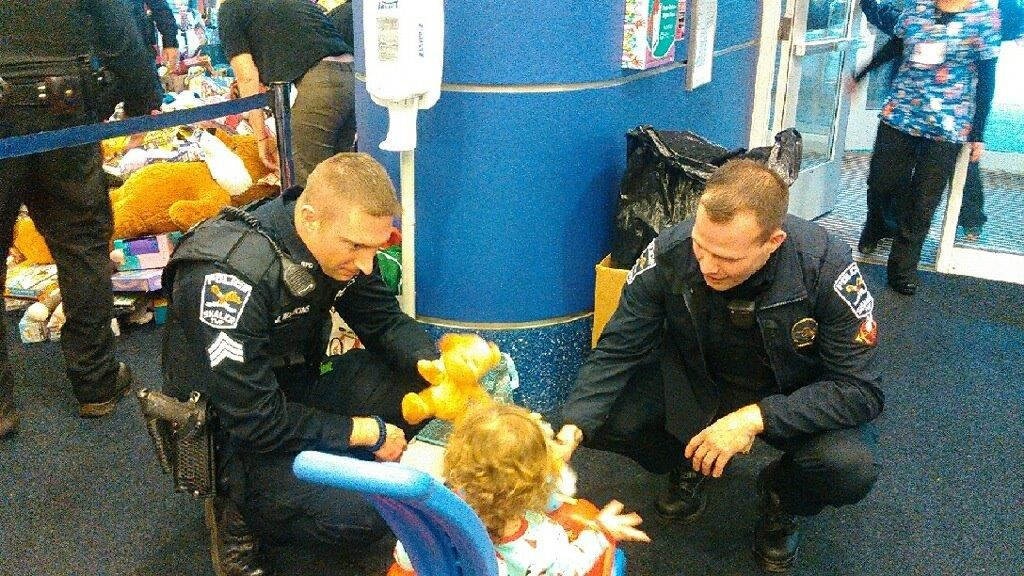 Sgt. Watkins and Ofc. Cook at Presents From Police