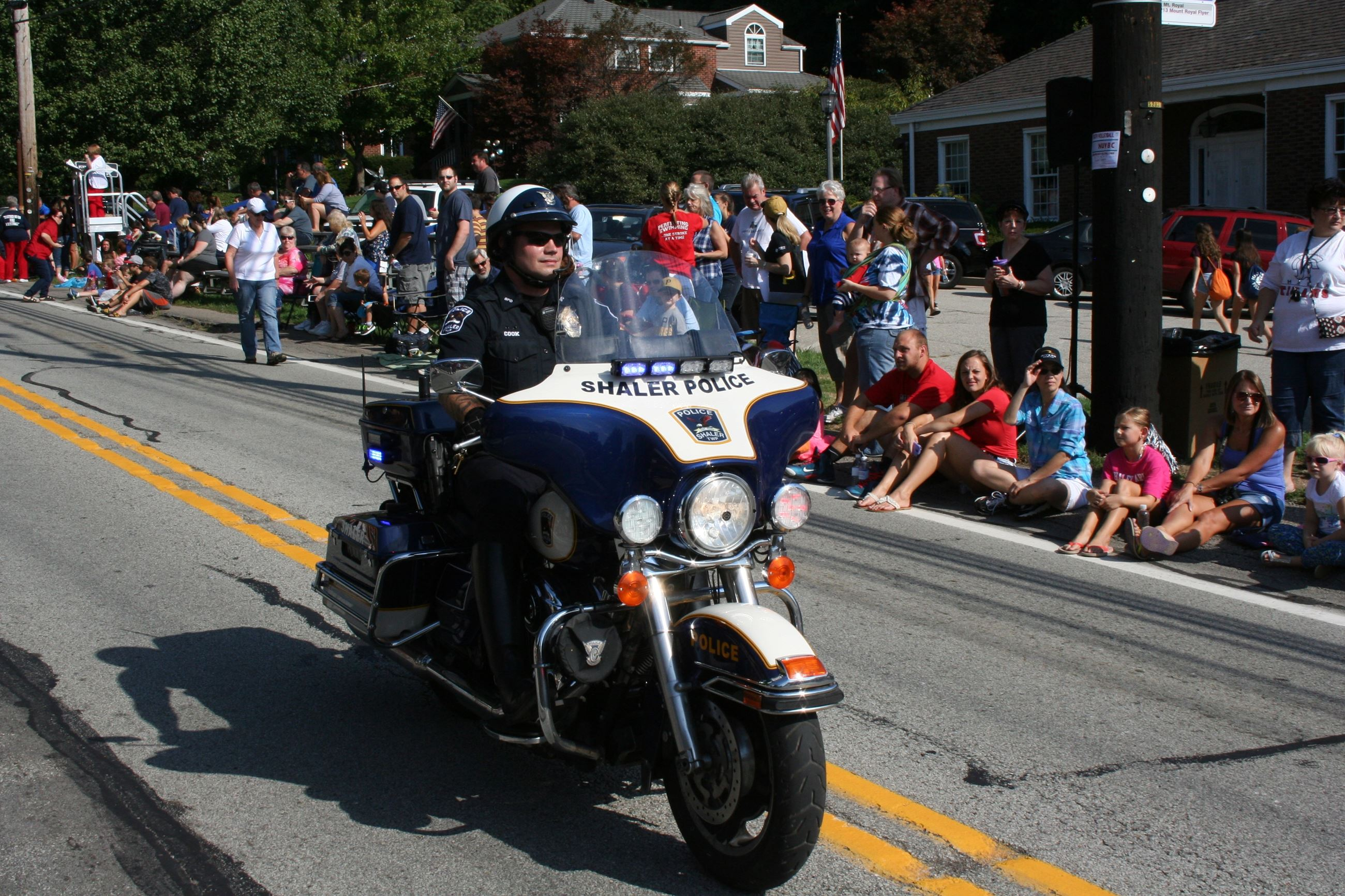 Motor Officer Cook in the 2015 Shaler Homecoming